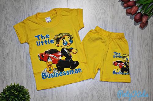 "Футболка с шортами ""The little Businessman"", жёлтые"