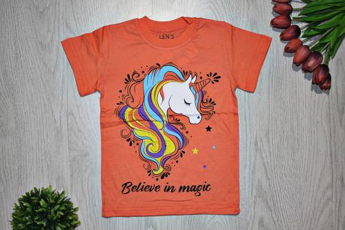 "Футболка ""Believe in magic"", персиковая"